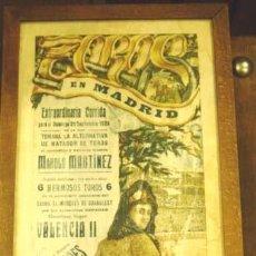 Carteles Toros: CARTEL DE TOROS. EXTRAORDINARIA CORRIDA EN MADRID, 21 DE SEPTIEMBRE DE 1925. CARTEL EN SEDA.. Lote 26182797