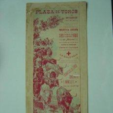 Carteles Toros: CARTEL TOROS - ANTEQUERA (MALAGA) - AÑOS 1900. Lote 26797764