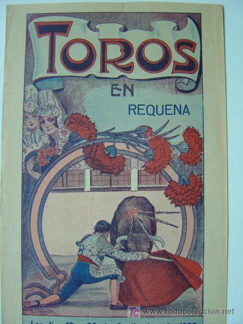 Carteles Toros: CARTEL TOROS - REQUENA (VALENCIA) - AÑO 1926 - Foto 2 - 26695930