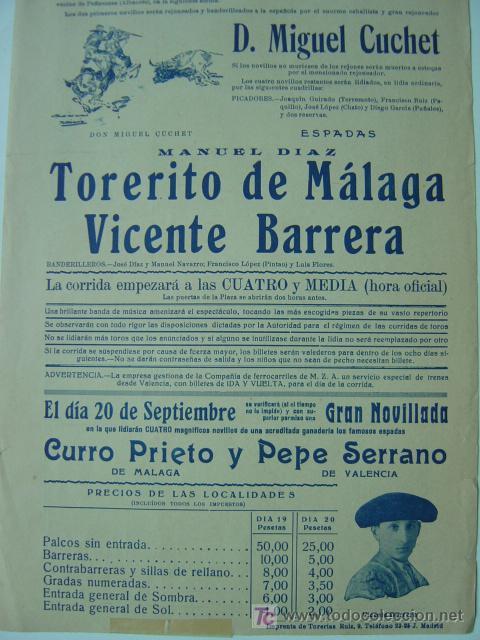 Carteles Toros: CARTEL TOROS - REQUENA (VALENCIA) - AÑO 1926 - Foto 6 - 26695930