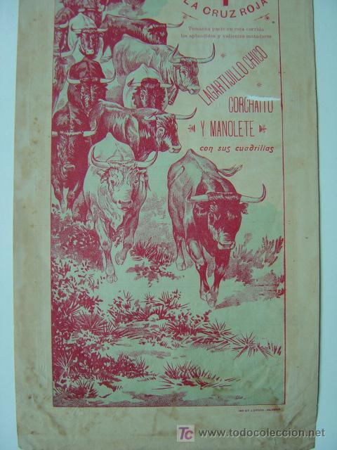 Carteles Toros: Cartel Toros - ANTEQUERA (MALAGA) - Años 1900 - Foto 3 - 26797764