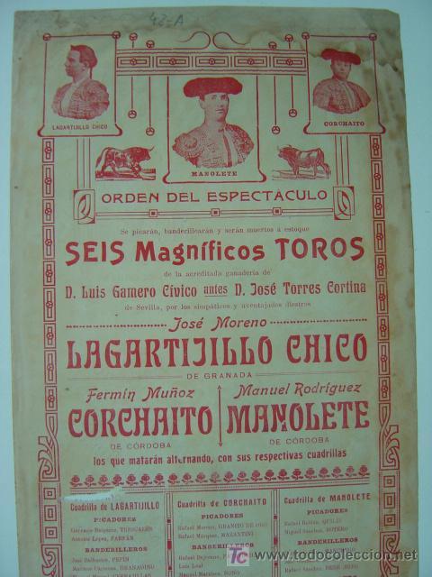 Carteles Toros: Cartel Toros - ANTEQUERA (MALAGA) - Años 1900 - Foto 5 - 26797764