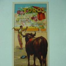 Carteles Toros: CARTEL TOROS - SAN SEBASTIAN - AÑO 1949 - LIOGRAFIA - ILUSTRADOR: J. REUS. Lote 176527905