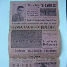 Carteles Toros: TALAYUELAS (CUENCA), GRAN ACONTECIMIENTO COMICO - TAURINO-MUSICAL - AÑO 1957. Lote 16439267