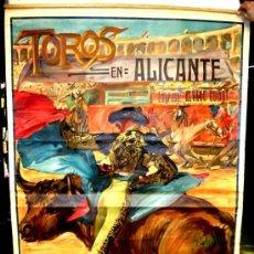 Carteles Toros: CARTEL TOROS ALICANTE JULIO 1923 , MUY GRANDE ,LITOGRAFIA ANTIGUA, ROBERTO DOMINGO. Lote 23506470