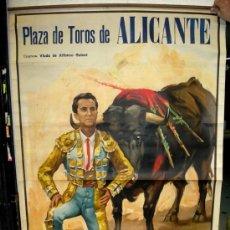 Carteles Toros: CARTEL TOROS ALICANTE AGOSTO 1958, MUY GRANDE ,LITOGRAFIA , JUAN REUS. Lote 24134676