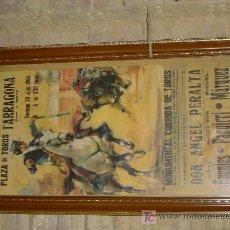 Carteles Toros: CARTEL DE TOREO, FUENTES, PAQUIRRI Y MARQUEZ.. Lote 18005523