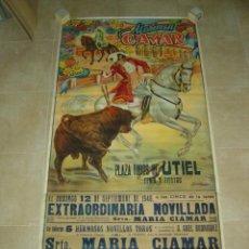 Carteles Toros: PRECIOSO CARTEL GRANDE DE TOROS UTIEL (VALENCIA) - MARIMEN CIAMAR - ILUSTRADOR: CONCHESO - AÑO 1948. Lote 123520539