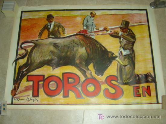 CARTEL TOROS - CABECERA - LLAPISERA COMICOS - RUANO LLOPIS - AÑOS 1940 (Coleccionismo - Carteles Gran Formato - Carteles Toros)