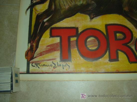 Carteles Toros: CARTEL TOROS - CABECERA - LLAPISERA COMICOS - RUANO LLOPIS - AÑOS 1940 - Foto 2 - 176251409