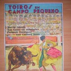 Carteles Toros: CARTEL DE TOROS DE PORTUGAL ( CAMPO PEQUENO(1937. Lote 25592185