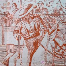 Carteles Toros: CARTEL TAURINO PLAZA TOROS ALBERIQUE 1924 CORTIJERO Y RICARDO CALVO. Lote 12114774