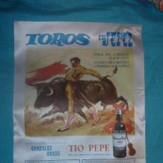 Carteles Toros: CARTEL DE SEDA. PLAZA DE TOROS DE JEREZ. FERIA DEL CABALLO. MAYO 1976.. Lote 9602174