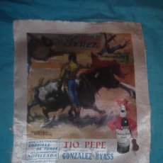 Carteles Toros: CARTEL DE SEDA. PLAZA DE TOROS DE JEREZ. FERIA DE MAYO DE 1965.. Lote 99473163