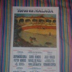 Carteles Toros: CARTEL DE SEDA. PLAZA DE TOROS DE MALAGA. AGOSTO 1988. 25 X 50 CM.. Lote 19585312