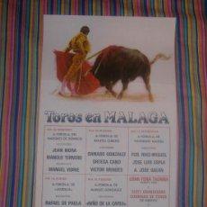 Carteles Toros: CARTEL DE SEDA. PLAZA DE TOROS DE MALAGA. AGOSTO 1986. 25 X 50 CM.. Lote 158890716