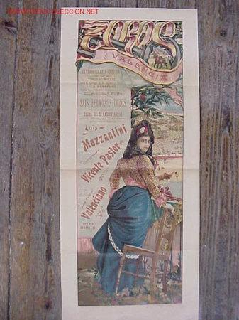 PRECIOSO CARTEL DE TOROS DE VALENCIA - AÑO 1903 (Coleccionismo - Carteles Gran Formato - Carteles Toros)