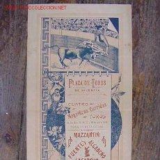Carteles Toros: PRECIOSO CARTEL DE TOROS DE VALENCIA, AÑO 1903. Lote 26738438