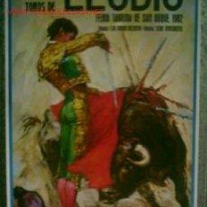 Carteles Toros: CARTEL DE TOROS LLODIO 1982 .. JUAN ANTONIO VÁZQUEZ - GONZALO GÓMEZ GUADALUPE – PACO VILLALTA – CE. Lote 27595768