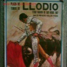 Carteles Toros: CARTEL DE TOROS LODIO 1982 .. JUAN ANTONIO VÁZQUEZ – GONZALO GÓMEZ GUADALUPE – PACO VILLALTA – CESAR. Lote 24240370