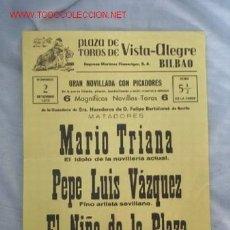 Carteles Toros: PLAZA TOROS VISTA ALEGRE BILBAO. Lote 16201201