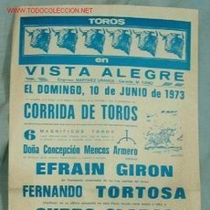 Carteles Toros: CARTEL TOROS VISTA ALEGRE. Lote 17670620