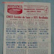 Carteles Toros: CARTEL TOROS VALENCIA. Lote 12543369