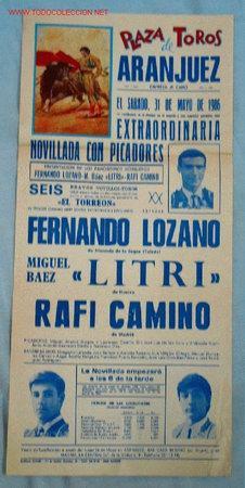 CARTEL TOROS ARANJUEZ (Coleccionismo - Carteles Gran Formato - Carteles Toros)