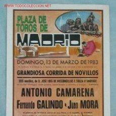 Carteles Toros: CARTEL TOROS MADRID. Lote 16766791
