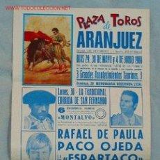 Carteles Toros: PLAZA TOROS ARANJUEZ. Lote 1880389