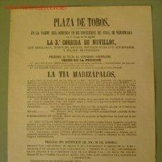 Carteles Toros: CARTEL TOROS - MADRID - NOVIEMBRE 1864. Lote 27138691