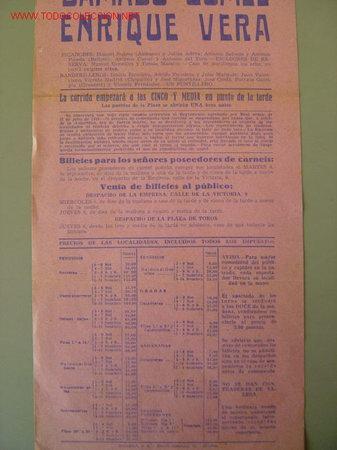 Carteles Toros: CARTEL TOROS - MADRID - SEPTIEMBRE DE 1951 - Foto 3 - 22988725