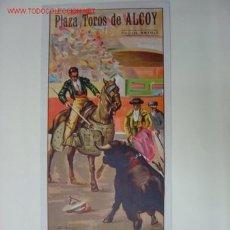 Carteles Toros: CARTEL TOROS - ALCOY (ALICANTE) - JUNIO DE 1948 - LITOGRAFIA - ILUSTRADOR: J. REUS. Lote 173386508