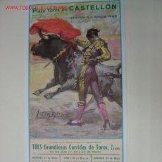 Carteles Toros: CARTEL TOROS - CASTELLON - MARZO DE 1968 - ILUSTRADOR: CROS ESTREMS. Lote 19438953