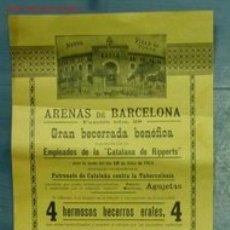 Carteles Toros: CARTEL TOROS BARCELONA. Lote 2368662