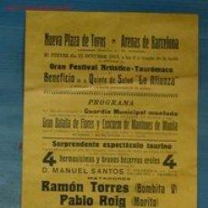 Carteles Toros: CARTEL TOROS BARCELONA. Lote 13258654