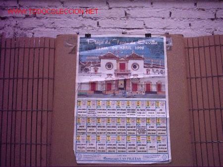 CARTEL DE TOROS SEVILLA (Coleccionismo - Carteles Gran Formato - Carteles Toros)