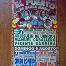 Carteles Toros: CARTEL DE TOROS. PLAZA DE TOROS DEL PUERTO. FERIA TAURINA DEL VERANO 1998. 7 Y 9 DE AGOSTO.. Lote 2778621