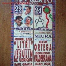 Carteles Toros: CARTEL DE TOROS DEL PUERTO. FERIA TAURINA DEL VERANO 1997,LITRI, JESULIN DE UBRIQUE, EL TATO. LEER. Lote 2778855