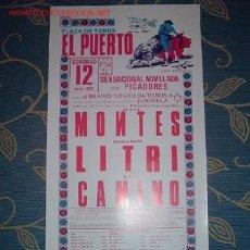 Carteles Toros: CARTEL DE TOROS DEL PUERTO JULIO 1987. MONTES, LITRI, RAFI CAMINO. GANADERIA JANDILLA. LEER. Lote 2814664