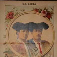 Carteles Toros: DANIEL PEREA. JOSÉ MOYANO Y MANUEL RODAS.. Lote 116110378