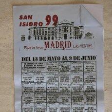 Carteles Toros: CARTEL DE TOROS EN SEDA.. Lote 21350503