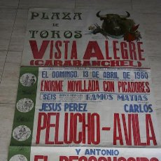 Carteles Toros: CARTEL DE TOROS MURAL DE VISTA ALEGRE (CARABANCHEL).. Lote 24265623