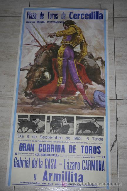 CARTEL DE TOROS DE CERCEDILLA. (Coleccionismo - Carteles Gran Formato - Carteles Toros)