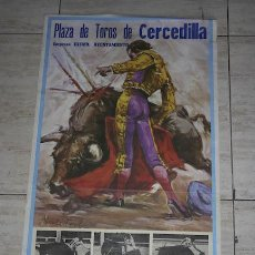 Carteles Toros: CARTEL DE TOROS DE CERCEDILLA.. Lote 25942475