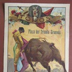 Carteles Toros: CARTEL DE TOROS DE GRANADA. 30 DE NOVIEMBRE DE 1930. MIGUEL MORILLA, ATARFEÑO Y PACO RODRÍGUEZ.. Lote 21763765