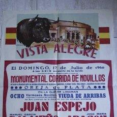 Carteles Toros: CARTEL DE TOROS DE VISTA ALEGRE.. Lote 24265618