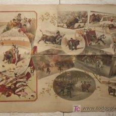 Carteles Toros: LITOGRAFÍA DE LA REVISTA LA LIDIA. TEMPORADA DE 1889.. Lote 13728473
