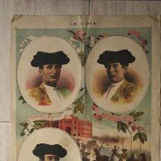 Carteles Toros: LITOGRAFÍA DE LA REVISTA ANTIGUA LA LIDIA. TEMPORADA DE 1885.. Lote 13188520