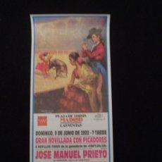 Carteles Toros: CARTEL NOVILLADA -LAS VENTAS 2002-. Lote 19366269